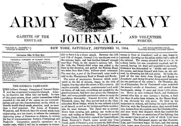 Civil War: Army Navy Journal & Gazette Volume 2