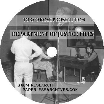 Tokyo Rose Prosecution Department of Justice Files - Download