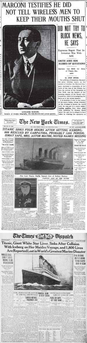 Titanic Disaster Newspapers April 20 - April 26, 1912 - Download