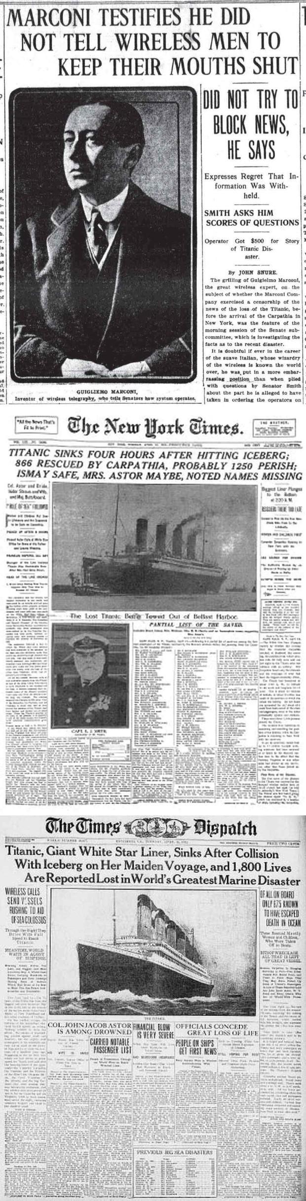 Titanic Disaster Newspapers April 20 - April 26, 1912 - Download