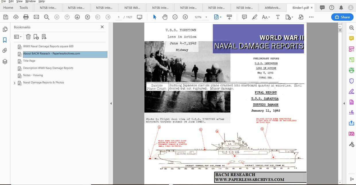 World War II Naval Damage Reports & Photos - Download