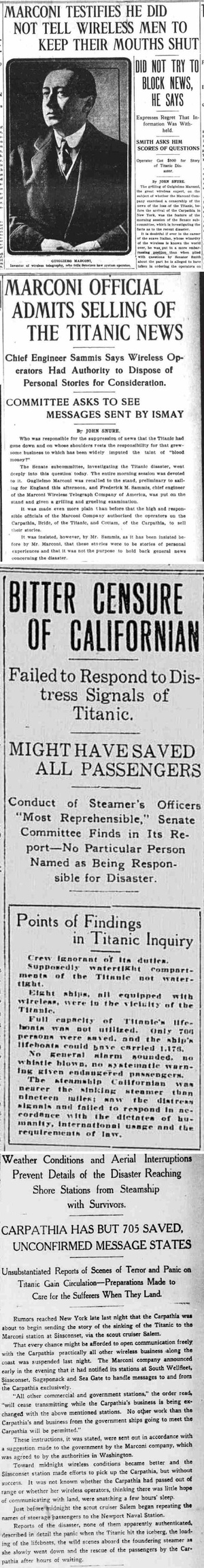Titanic Disaster Newspapers April 27, 1912 - April 14, 1922 - Download