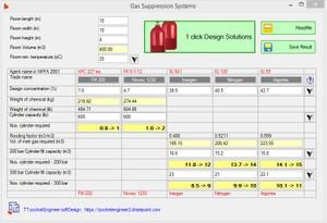 Gas Fire Suppression Calculations