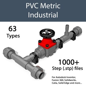 PVC Industrial valves and fittings  - Wyalo 3D CAD Files