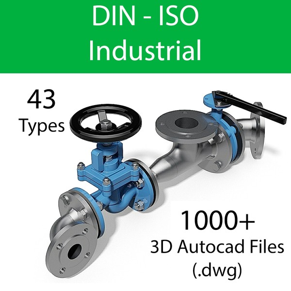 DIN - VALVES AND FITTINGS INDUSTRIAL - AUTOCAD FILES