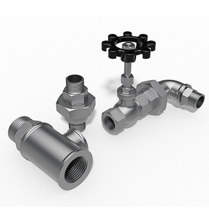 BSP threaded valves and fittings.