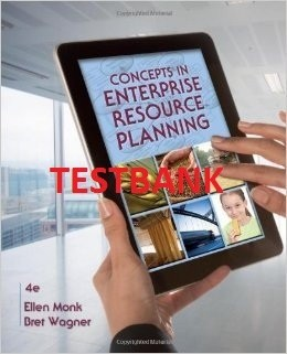 ITM 330 TESTBANK - Concepts in Enterprise Resource Planning (4th Ed)
