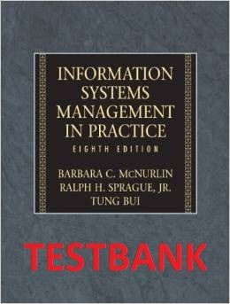 TESTBANK itm 505 - Information Systems Management in Practice (8th Edition)