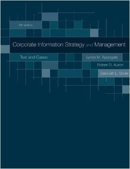 ITM 700 CASE- Corporate Information Strategy and Management Text and Cases Booklet