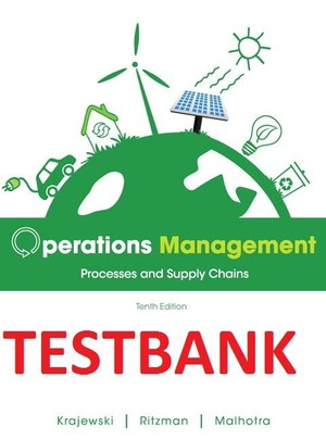 TESTBANK ITM 410/601-Operations Management, 10E