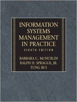 EBOOK itm 505 - Information Systems Management in Practice (8th Edition)