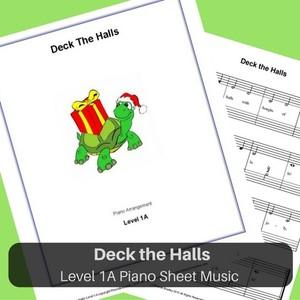 Deck the Halls Level 1A piano