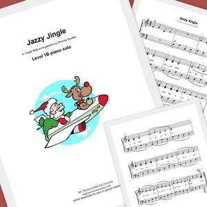 Jazzy Jingle piano solo sheet music for beginners Level 1B
