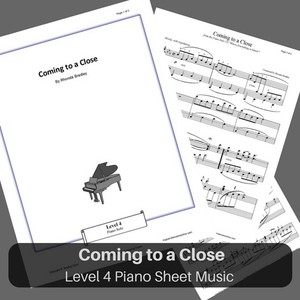 Coming to a Close Level 4 piano sheet music
