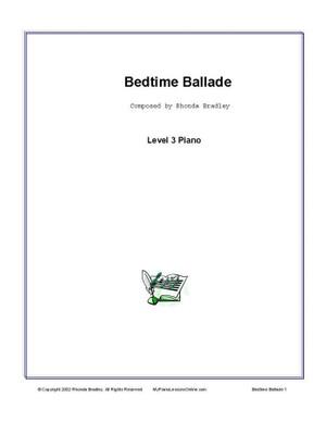 Bedtime Ballade Piano Solo Sheet Music