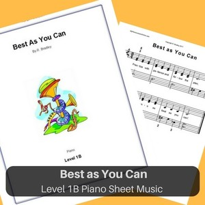 Best as You Can piano sheet music for children Level 1B