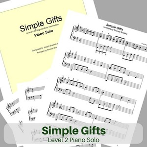 Simple Gifts piano sheet music