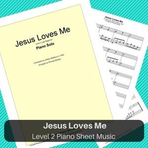 Jesus Loves Me Level 2 piano sheet music