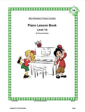 Miss Rhonda's Piano Lesson Book 1A
