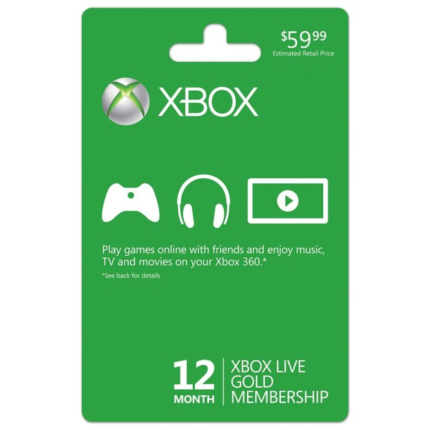 12 Months Xbox Live Digital Code!