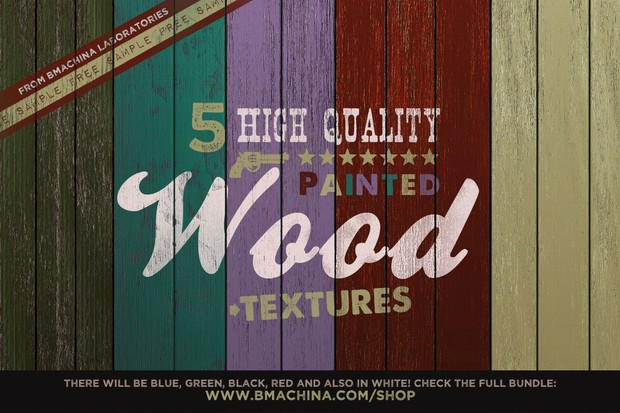 Painted Wood Textures (Sample)