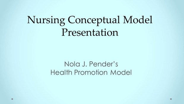 NRS-430V Week 3 Collaborative Learning Community: Nursing Conceptual Model Presentation