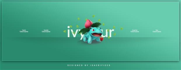 Pokemon go ivysaur twitter header template psd maxwellsz