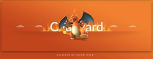 POKEMON GO: Charizard Twitter Header Template (PSD)