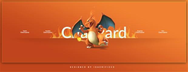 POKEMON GO: Charizard Twitter Header Template (PSD)