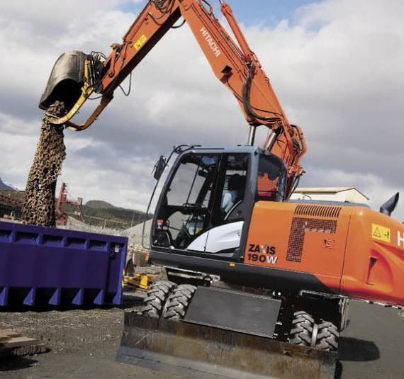 HITACHI Zaxis 190W-5N Wheeled Excavator Service Repair Manual (TM13254X19)