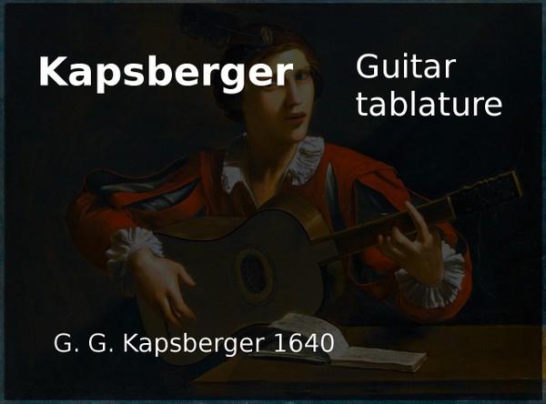 Kapsberger - J H Kapsberger ( 1640 ) - PDF Guitar tab