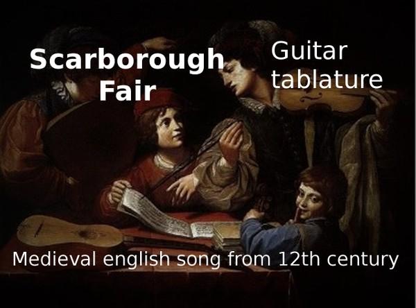 Scarborough Fair - English medieval song - PDF Guitar tablature
