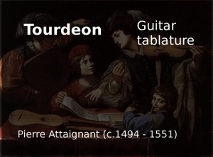 Tourdion (French medieval dance) - Guitar tablature