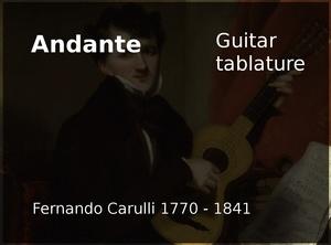 Andante (Fernando Carulli 1770 - 1841) - Classical guitar tablature