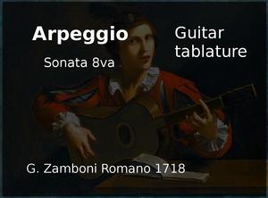 Arpeggio ( G. Zamboni 1718 ) - Guitar tablature