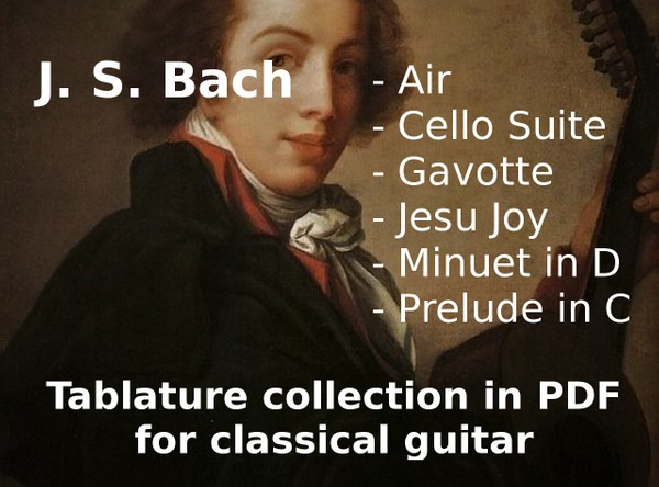 J. S. Bach tablature collection in PDF for guitar