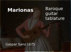 Marionas - Baroque Guitar Tablature (Gaspar Sanz 1675)