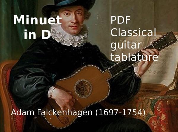 Minuet in D - Adam Falckenhagen (1697-1754) - PDF Guitar tablature