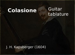 Colascione (G.G. Kapsberger 1604) -  Guitar tablature