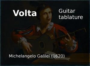 Volta (Michelangelo Galilei 1620) - Guitar Tablature