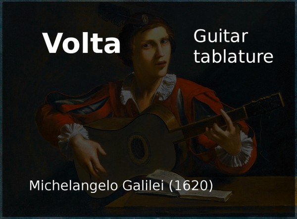 Volta - Michelangelo Galilei ( 1620 ) - PDF Guitar Tab