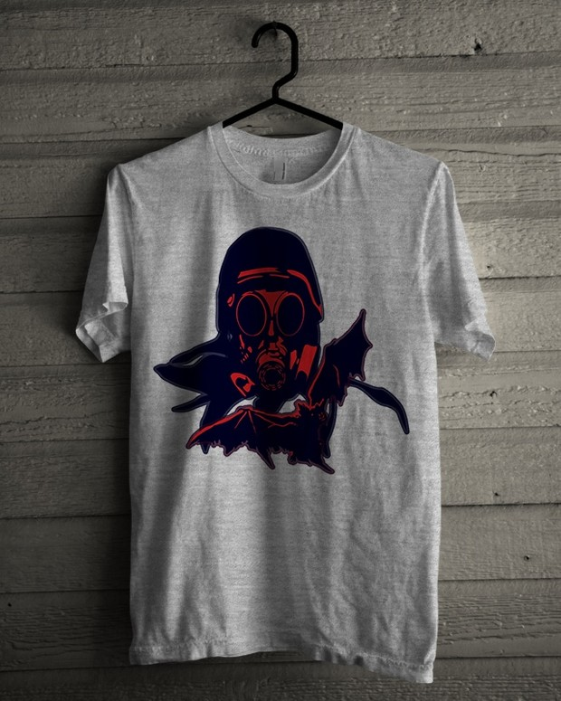 T-shirt Design 'Red Mask Soldier'