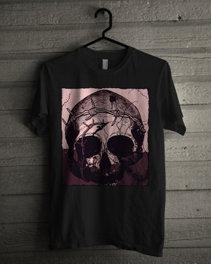 T-shirt Design Image - Skull In Pink - Purple Color
