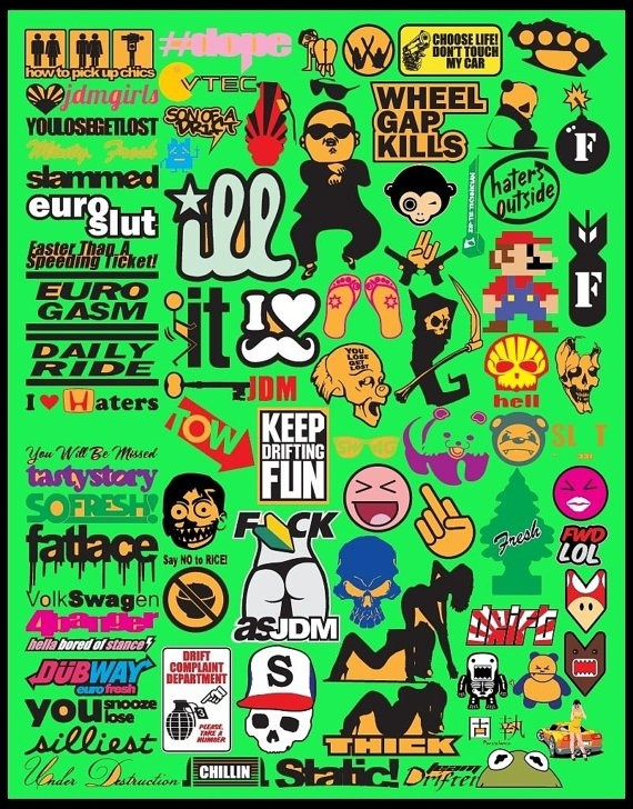 JDM Car Decal Vector collection 1 To 10