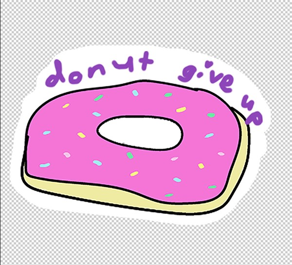 donut give up sticker