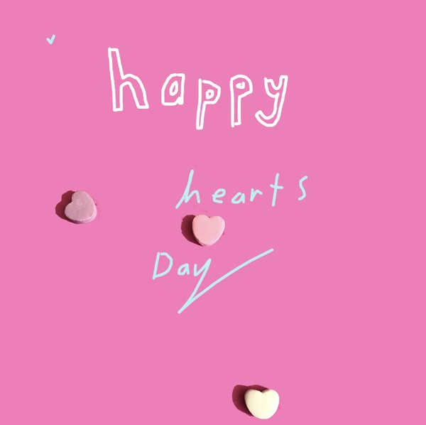 happy hearts day animated candy drawing