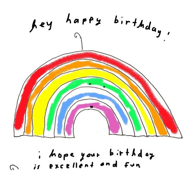 birthday rainbow image