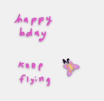happy bday butterfly gif animated drawing