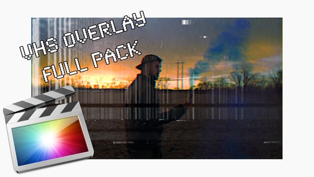 VHS Overlays - Full Pack - Final Cut Pro X - FREE TEXT Plugin