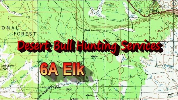 Unit 6a Arizona Map.Unit 6a Archery Elk Desertbull Hunting Services